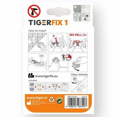 Tiger Monteringsmateriale TigerFix Type 1 metall 398730046