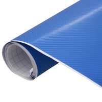 vidaXL Bilfolie matt 4D blå 200x152 cm