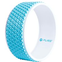 Pure2Improve Yogahjul 34 cm blå og hvit