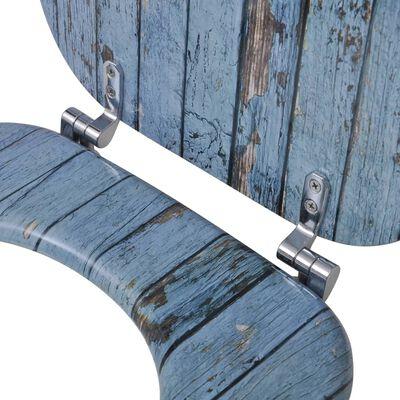 Toalettsete med MDF Lokk Gammelt Treverk Design