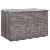 vidaXL Putekasse 150x100x100 cm polyrotting grå