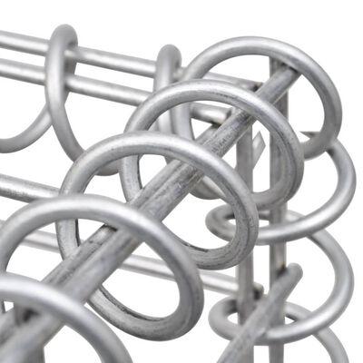 vidaXL Gabionsøppelskjul stål 250x100x120 cm