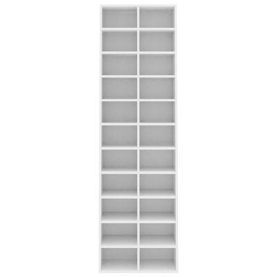 vidaXL Skoskap hvit 54x34x183 cm sponplate