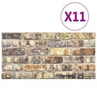 vidaXL 3D veggpaneler med flerfarget mursteindesign 11 stk EPS