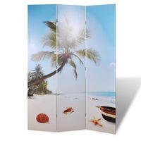 vidaXL Sammenleggbar romdeler 120x170 cm strand