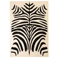 vidaXL Moderne teppe sebradesign 80x150 cm beige/svart