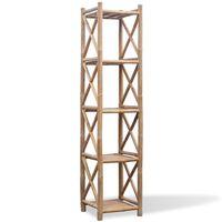 vidaXL Bambushylle 5 etasjer firkantet
