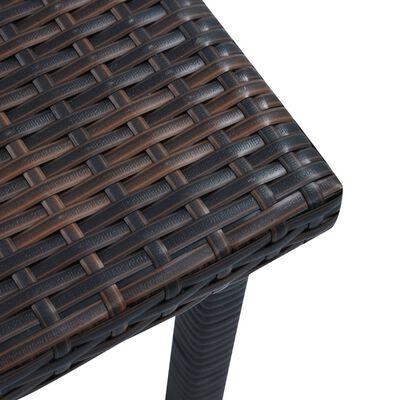 vidaXL Hagebord brun 40x40x40 cm polyrotting