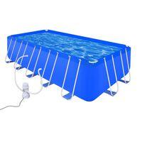 Svømmebasseng med pumpe stål 540 x 270 x 122 cm