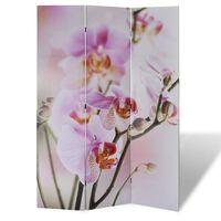 vidaXL Sammenleggbar romdeler 120x170 cm blomst