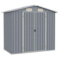 vidaXL Hageskur grå 205x129x183 cm galvanisert stål