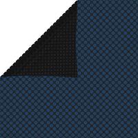 vidaXL Flytende solarduk til basseng PE 600x400 cm svart og blå