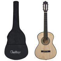 """vidaXL Klassisk gitar 8-delers sett for nybegynnere og barn 1/2 34"""""""