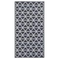 vidaXL Uteteppe svart 80x150 cm PP