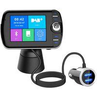 Trådløs Bluetooth LCD FM-sender med MP3 USB Handsfree for bilen