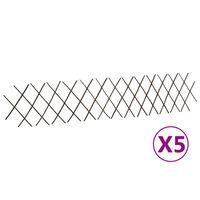 vidaXL Espaliergjerder selje 5 stk 180x30 cm