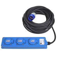 ProPlus Schuko-strømskinne med 3 uttak 20 m 2 USB