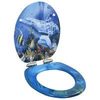 vidaXL Toalettsete med myk lukkefunksjon MDF delfindesign