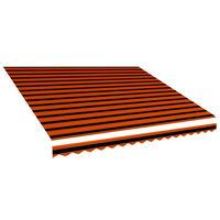 vidaXL Markiseduk oransje og brun 450x300 cm