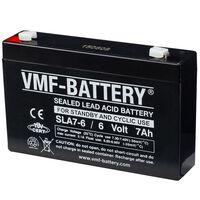 VMF AGM batteri standby og syklisk 6 V 7 Ah SLA7-6