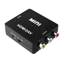 HDMI Adapter til AV - (3x RCA) NTSC / PAL Kompatibel - Svart