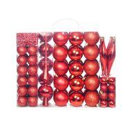 vidaXL Julekulesett 6 cm 113 stk rød