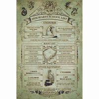 Harry Potter, Maxi Poster - Hogwarts Skoleliste