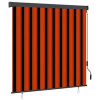 vidaXL Utendørs rullegardin 160x250 cm oransje og brun