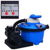 vidaXL Sandfilterpumpe med timer 450 W 25 L