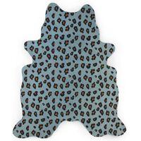 CHILDHOME Barneteppe 145x160 cm leopard blå