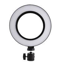 Roterbar selfie på stativ med LED-lys, 20 cm - Svart