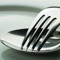 DUTCH WALLCOVERINGS Fototapet Cutlery sølv