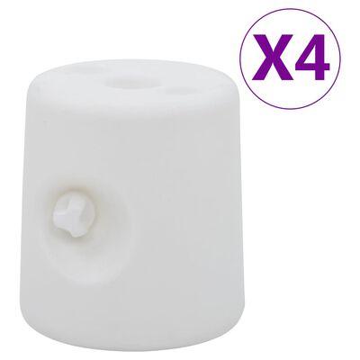 vidaXL Lysthusvekter 4 stk PE hvit