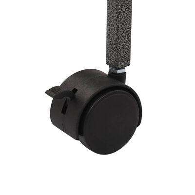 vidaXL Fuglebur grå 54x54x146 cm stål