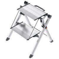 Hailo Gardintrapp med 2 trinn Mini Comfort 45 cm aluminium 4310-100