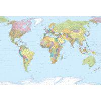 Komar Veggmaleri World Map XXL 368x248 cm XXL4-038