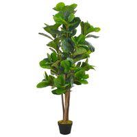 vidaXL Kunstig plante fiolinfiken med potte grønn 152 cm