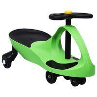 vidaXL Svingbil for barn med horn grønn