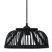 vidaXL Pendellampe svart selje 37x15,5 cm 40 W halvrund E27