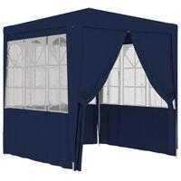 vidaXL Profesjonelt festtelt med sidevegger 2x2 m blå 90 g/m²