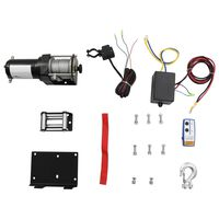 12 V Electric Winch 1360 KG with Mounting Plate Roller Fairlead Wireless Remote Control