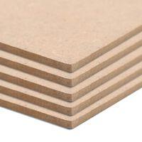 vidaXL Bordplater MDF 20 stk kvadratisk 60x60 cm 2,5 mm