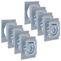 vidaXL Festeringer for tilhenger 8 stk galvanisert stål 2000 kg