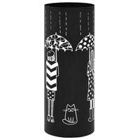 vidaXL Paraplystativ Women stål svart