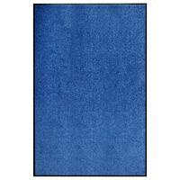 vidaXL Dørmatte vaskbar blå 120x180 cm