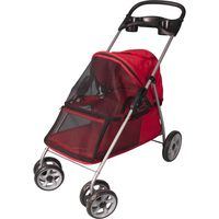 FLAMINGO Hundevogn rød 89x37x87 cm