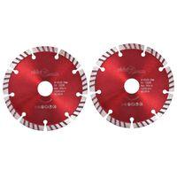 vidaXL Diamantkutteskiver 2 stk med turbostål 125 mm