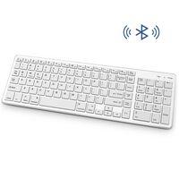 Trådløst tastatur med Bluetooth - Hvit