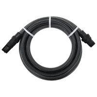 vidaXL Sugeslange med PVC kontakter 4 m 22 mm svart