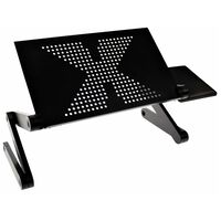 United Entertainment Multifunksjonelt laptopstativ svart